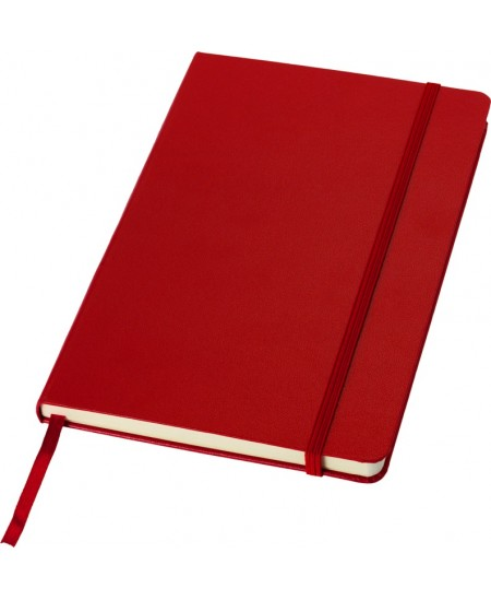 Užrašų knygelė JOURNAL BOOKS su gumele, A5, linija, raudona