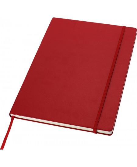 Užrašų knygelė JOURNAL BOOKS su gumele, A4, linija, raudona