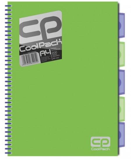 Sąsiuvinis PATIO JUMPER su plastikiniais skirtukais, A4, 200 lapų