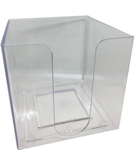 Dėžutė užrašų lapeliams, plastikinė, skaidri
