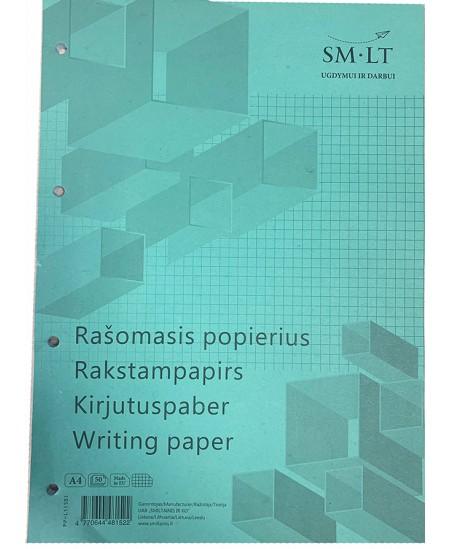 Rašomasis popierius SM-LT, A4, langeliais, su skylutėmis, 50 lapų