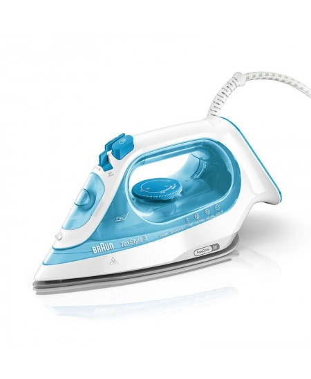 Braun Iron SI3053BL Steam, 2400 W, Water tank capacity 270 ml, Continuous steam 45 g/min, Blue