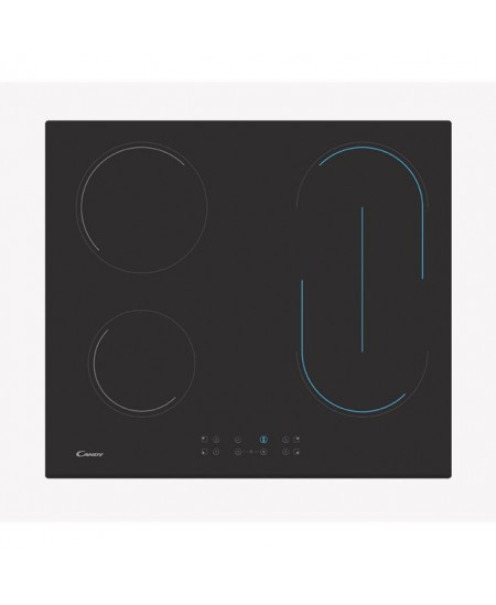 Candy Hob CH64BVT Vitroceramic, Number of burners/cooking zones 4, Touch control, Timer, Black