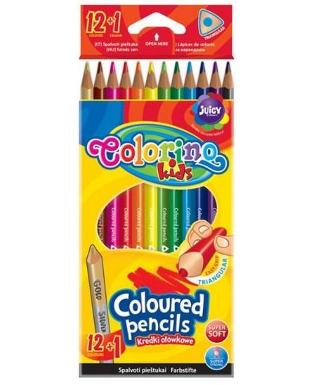 Spalvoti pieštukai COLORINO, tribriauniai, 13 spalvų