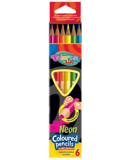 Spalvoti pieštukai COLORINO JUMBO, neoniniai, 6 spalvų