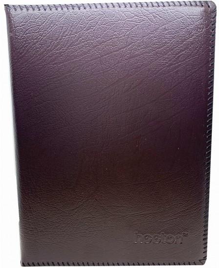 Vizitinių kortelių albumas HEETON, su žied., 180 kortelių, dirbtinė oda, juodas