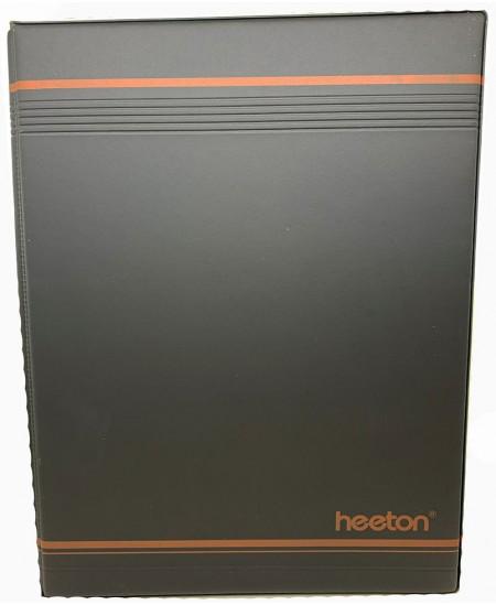 Vizitinių kortelių albumas HEETON, su žied., 240 kortelių, dirbtinė oda, juodas