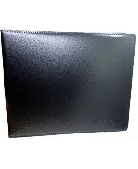 Vizitinių kortelių albumas HEETON, su žied., 360 kortelių, dirbtinė oda, juodas