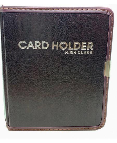 Vizitinių kortelių albumas HEETON, 80 kortelių, dirbtinė oda, rudas