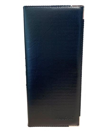 Vizitinių kortelių albumas HEETON, 320 kortelių, dirbtinė oda, juodas