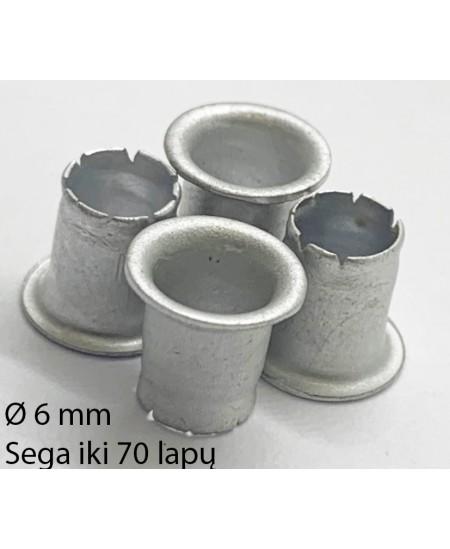 Kniedės, 6 mm, sega nuo 30 iki 70 lapų, 500 vnt.