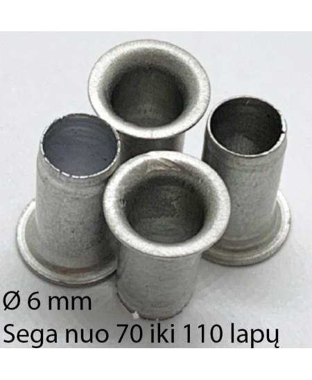 Kniedės, 6 mm, sega nuo 70 iki 110 lapų, 300 vnt.