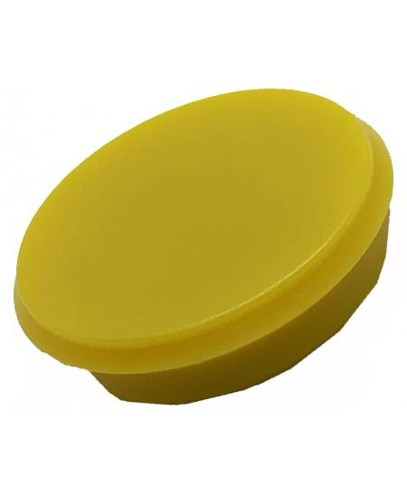 Magnetas ALCO, skersmuo 24mm, geltona spalva, 1vnt.