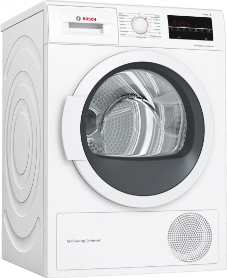 Bosch Dryer Machine WTW85L48SN  Energy efficiency class A++, Condensed, 8 kg, Condensation, LED, Depth 60 cm, White, SelfCleanin