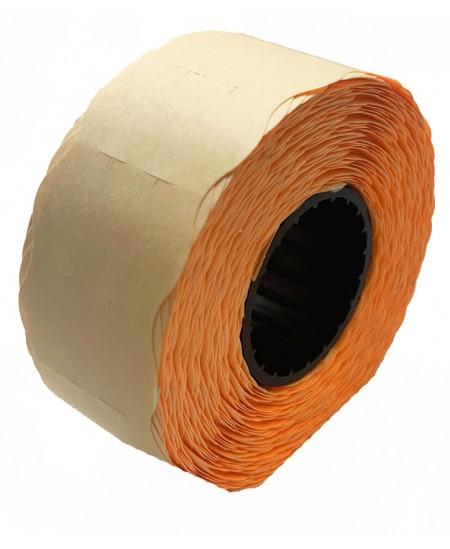 Kainų etiketės 26x16mm, su bangele, 1000vnt., oranžinės sp.