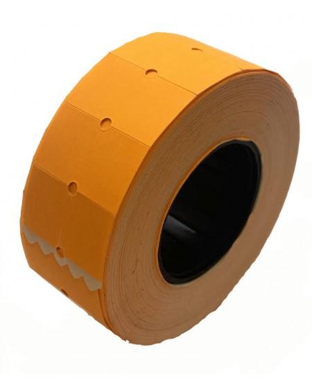 Kainų etiketės 21,5x12mm, stačiakampės, 1000vnt., oranžinės sp.