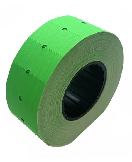 Kainų etiketės 21,5x12mm, stačiakampės, 1000vnt., žalios sp.