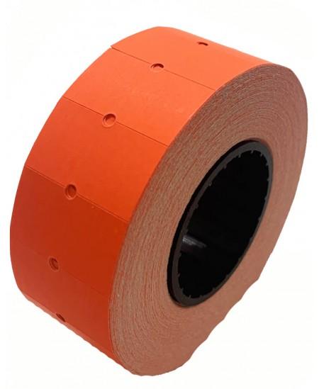 Kainų etiketės 21,5x12mm, stačiakampės, 1000vnt., raudonos sp.