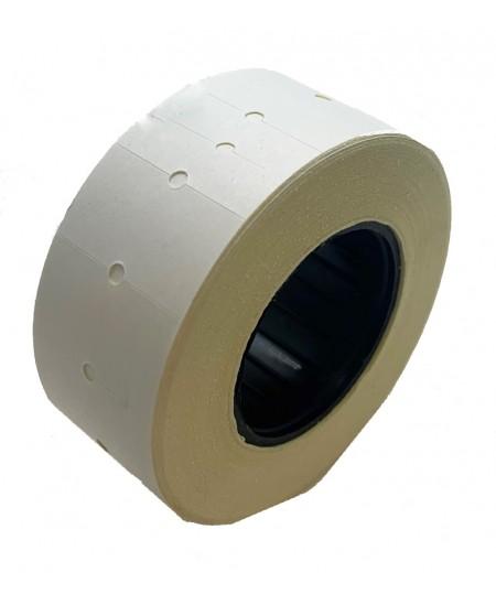 Kainų etiketės 21,5x12mm, stačiakampės, 1000vnt., baltos sp.