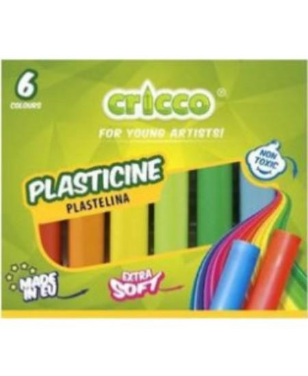 Plastilinas CRICCO, 6 spalvų