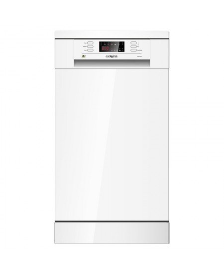 Goddess Dishwasher GODDFE947DW9N Free standing, Width 44.8 cm, Number of place settings 9, Number of programs 6, A++, Display, W