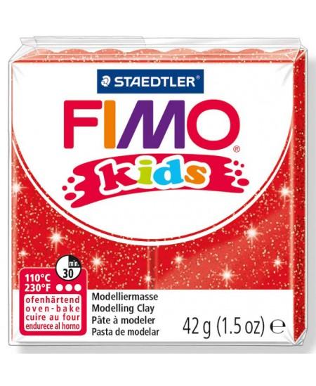 Polimerinis molis vaikams FIMO, blizgios raudonos spalvos, 42 g