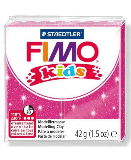 Polimerinis molis vaikams FIMO, blizgios rožinės spalvos, 42 g