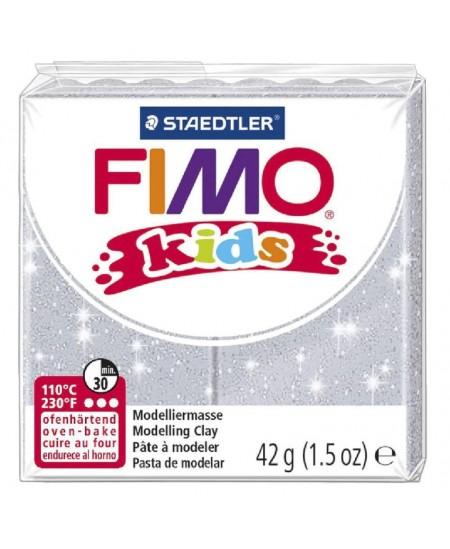 Polimerinis molis vaikams FIMO, blizgios pilkos spalvos, 42 g