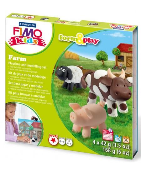 """Polimerinio molio kūrybinis rinkinys vaikams FIMO """"Ferma"""""""