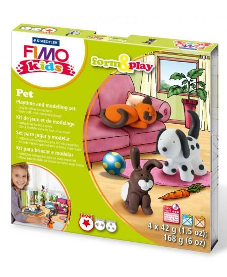 """Polimerinio molio kūrybinis rinkinys vaikams FIMO """"Gyvūnėliai"""""""