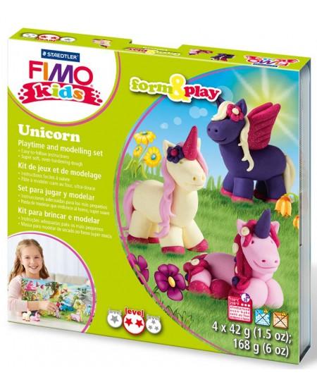 """Polimerinio molio kūrybinis rinkinys vaikams FIMO """"Vienaragis"""""""
