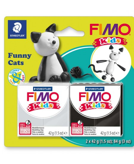 """Polimerinio molio kūrybinis rinkinys vaikams FIMO """"Katinas"""""""