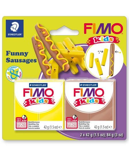 """Polimerinio molio kūrybinis rinkinys vaikams FIMO """"Dešrelės"""""""
