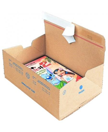 Siuntų dėžė su lipnia juostele, 213 x 153 x 77 mm, rudos spalvos, 1 vnt.