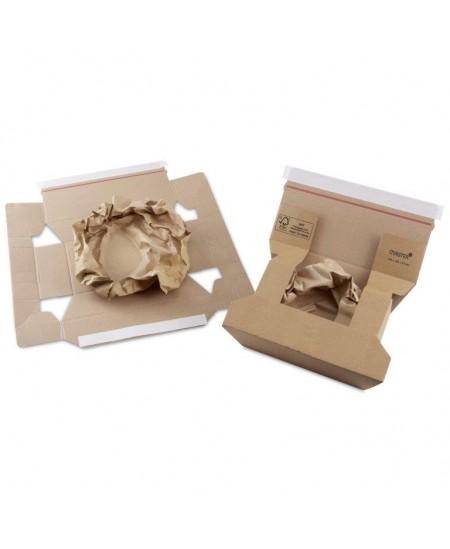 Siuntų dėžė su lipnia juostele, 160 x 120 x 63 mm, rudos spalvos, 1 vnt.