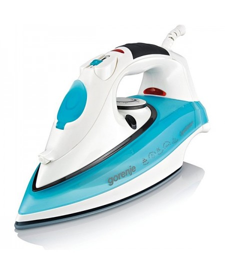 Gorenje SIH2200TC White/Turquoise, 2200 W, Steam Iron, Continuous steam 22 g/min, Steam boost performance 80 g/min, Anti-drip fu