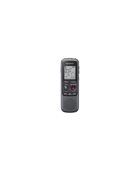 Sony ICD-PX240 Black, Grey, MP3 playback, LCD Display, MAX. RECORDING TIME MP3 8KBPS (MONAURAL)1043 Hrs 0 MinMAX. RECORDING TIME