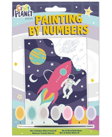 Spalvinamas paveikslas CRAFT PLANET, pagal skaičius, kosmosas