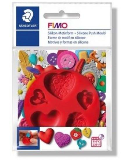 """Silikoninė forma FIMO """"Širdelės"""""""