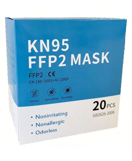 Veido kaukė (respiratorius) KN95/FFP2, 4 sluoksnių