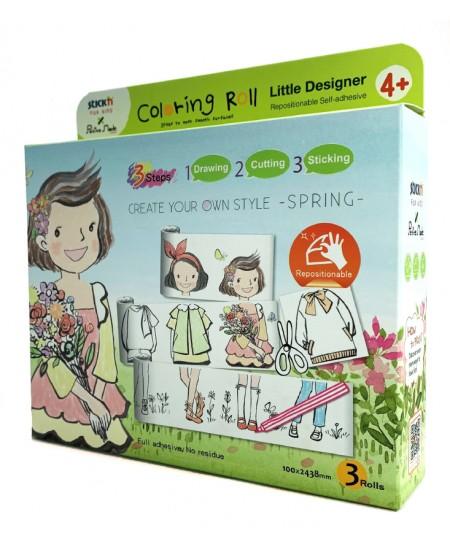 """Lipnių piešimo juostų rinkinys STICK´N """"Mažasis dizaineris. Pavasaris"""""""