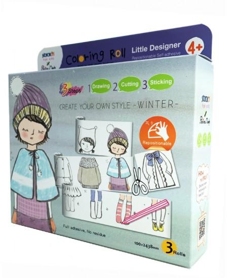 """Lipnių piešimo juostų rinkinys STICK´N """"Mažasis dizaineris. Žiema"""""""