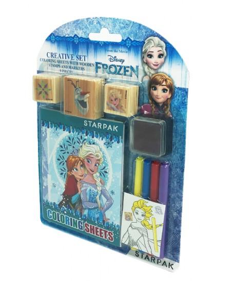 """Spalvinimo knygelė su antspaudais STARPAK """"Frozen"""""""