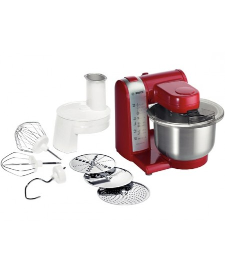 Bosch MUM48R1 Red, Stainless steel, 600 W, Number of speeds 4, 3.9 L