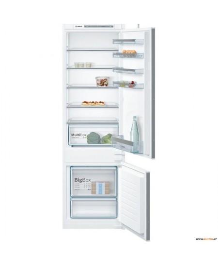 Bosch Refrigerator KIV87VSF0 A++, Built-in, Combi, Height 177 cm, No Frost system, Fridge net capacity 209 L, Freezer net capaci