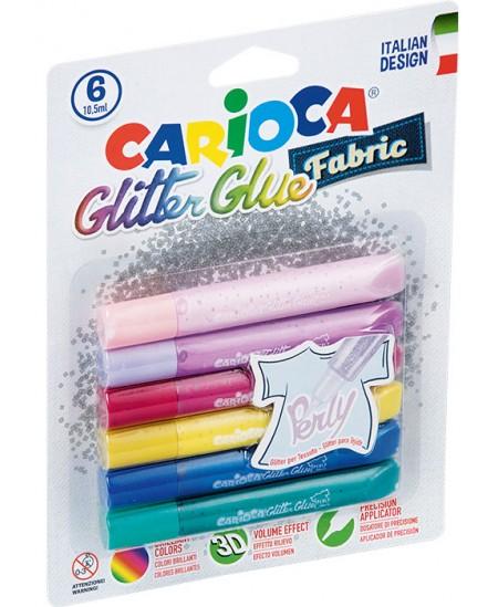 Pastelinių spalvų skysti klijai CARIOCA Pastel, 6 spalvų