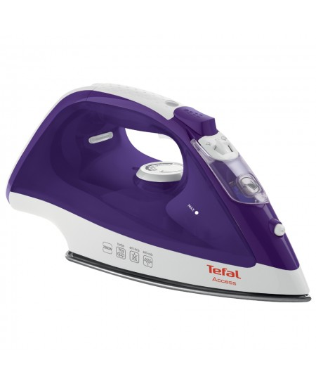 TEFAL LinenCare Access  FV1526E3 Violet/ white, 2000 W, Steam iron, Continuous steam 25 g/min, Steam boost performance 90 g/min,