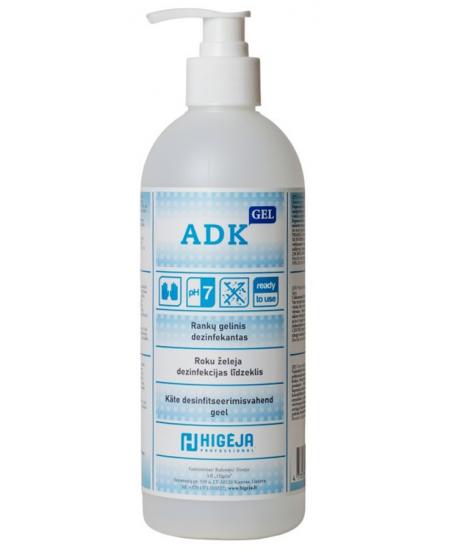 Alkoholinis gelinis rankų dezinfekantas ADK GEL, 500 ml