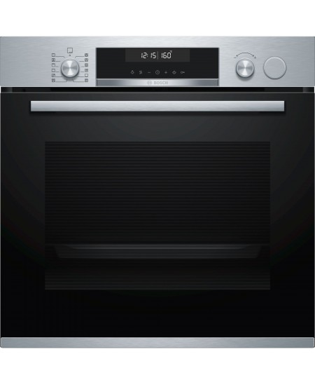 Bosch Oven HRA558BS1S 71 L, A, Built-in, EcoClean, Push-in regulators / Rotary knobs, Steam function, Height 59.5 cm, Width 59.4