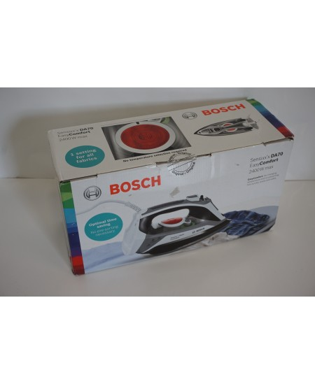 SALE OUT. Bosch TDA70EASY Steam iron Bosch TDA70EASY Steam iron, 2400 W, Water tank capacity 380 ml, Continuous steam 45 g/min,